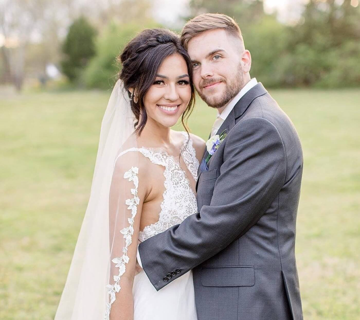 Photo of bride an groom